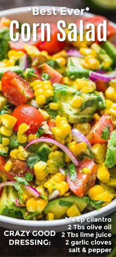 Avocado Corn Salad with the BEST Dressing