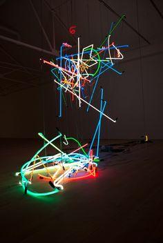 "Go See – London: ""Shape of Things to Come"" at Saatchi Gallery through October 2011 Museum Of Neon Art, Nightclub Design, Light Art Installation, Saatchi Gallery, Metal Artwork, Light Painting, Neon Lighting, Neon Room, Sculpture Art"
