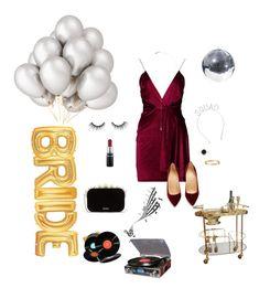 """bachelor party"" by danahtawfiq ❤ liked on Polyvore featuring Buy Seasons, Crosley Radio & Furniture, Boohoo, Catbird, Christian Louboutin, La Senza, MAC Cosmetics, tarte, Effy Jewelry and Cartier"