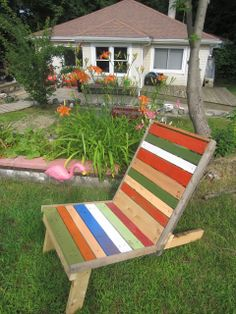 scrap wood deck chair
