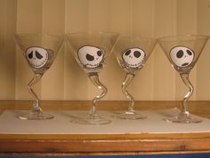 Jack Skellington Martini Glasses ~ Nightmare Before Christmas