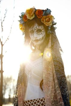 hmmm maybe this year's halloween costume should be day of the dead themed...since I am living in El Paso now..