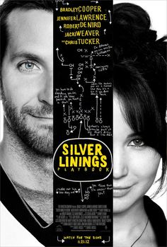 Silver Linings Playbook official poster.  Check out the movie on Facebook http://on.fb.me/PP0Qf3
