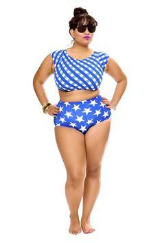 The Curvy Fashionista | Rue 107 Curves Swim Collection