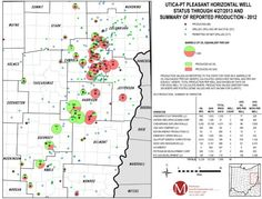 Ohio's Utica Shale Well Status and 2012 Production