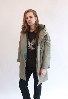 Vintage 80s Green Trench Coat by WastelandVintageUK on Etsy