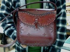 Purse / Bag / Ladies / Cobbled / Leather / Custom / Hand Carved and Tooled / Handmade / Women / Woman / Leather Purse / Hand Crafted / Girl