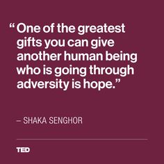 """Shaka Senghor shares this inspirational message of hope in his powerful TED Talk, """"Why your worst deeds don't define you."""""""