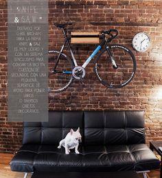 petitecandela: BLOG DE DECORACIÓN, DIY, DISEÑO Y MUCHAS VELAS: Bicis: colgando las dos ruedas!