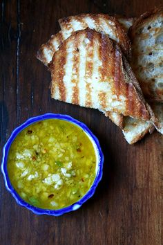 salsa di Parmigiano and grilled bread