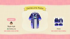 Robes inspired by a haori kimono Cardigans online so design is technically not mine? Pixelated template and photo inspiration will be found in comments - ACQR Animal Crossing Memes, Animal Crossing Qr Codes Clothes, Animal Crossing Pocket Camp, Katie Holmes, Hm Outfits, Motif Acnl, Ac New Leaf, Motifs Animal, Animal Games