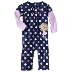 JUST ONE YOU  Made by Carters ® Infant Girls' Dots/Monkey Jumpsuit - Blue.Opens in a new window. $18. Talles: RN, 3, 6, 9, 12, 18, 24 meses