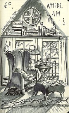 Inside Crooked House 092612 by Donna Jeanne Koepp of White Wolf Studios