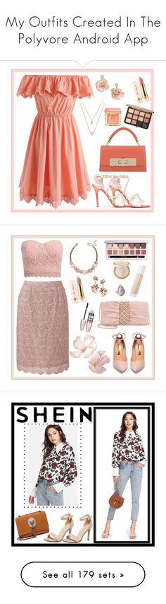 """""""My Outfits Created In The Polyvore Android App"""" by billsacred ❤ liked on Polyvore featuring Camilla Elphick, Chicwish, Elisabetta Franchi for Celyn B., Badgley Mischka, Forever 21, Too Faced Cosmetics, Uniqlo, Adrianna Papell, Rupert Sanderson and Maybelline"""