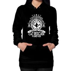 Cat rescuer forever Hoodie (on woman)