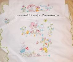 Saree Painting, Baby Embroidery, Happy Flowers, Baby Bibs, Machine Embroidery Designs, Sewing, Cross Stitch Bird, Baby Layette, Embroidery Stitches