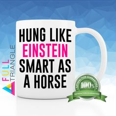 •••FUNNY EINSTEIN MUG•••  By Full Triangle  This funny Coffee mug is perfect for…