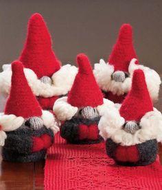 Homemade knitted nisser