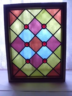 Antique Vict Church Stained Glass Window Architectural Salvage Jewels L A 44 | eBay