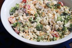 Easy and delicious recipe for broccoli salad.
