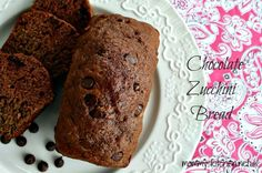 Mommy's Kitchen - Home Cooking & Family Friendly Recipes: Chocolate Zucchini Bread {First Zuchinni of the Season} #foodholiday #zucchinibread