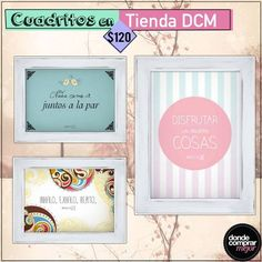 Te mostramos algunos de los cuadritos de Tienda DCM para sumarle mucha creatividad a tu casa. ¿Dónde los colgarías?  Encontralos en www.tiendadcm.com/products/list/brand/21114