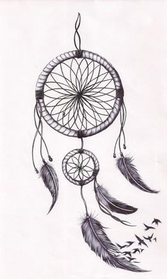 Simple Dreamcatcher Outline Dreamcatcher