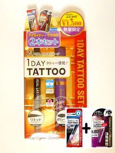 K-Palette 1Day Tattoo Real Lasting Liquid Eyeliner & Volume Curl Mascara Limited #Kpalette