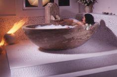 Badewanne Travertin Noce My Dream, Bathtub, Bathroom, Travertine, Bath Tub, Natural Stones, Bathing, Standing Bath, Washroom