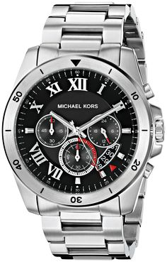 Michael Kors Men's Brecken Silver-Tone Watch MK8438