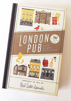 Herb Lester's A London Pub For Every Occasion map Binding Covers, Book Binding, Web Design, Graphic Design, Pen Shop, Litho Print, Wanting To Be Alone, City Road, Paper Ship
