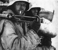 German soldiers trapped in the Korsun pocket, 1944.