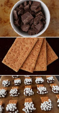 S'mores Mini Dippers make for adult and kid friendly autumn and winter party food #event #planning