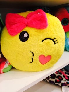 Cute emoji pillow