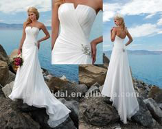 sexy mermaid casual beach wedding dresses 2012 perfect