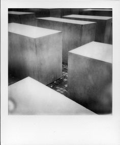 In Berlin By The Wall.....shoah Memorial: By Fred De Casablanca, more artworks… #Photography #Polaroid #instant #film #Construction