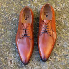 Tan Chestnut Derby Wholecut Shoe | Thomas Bird