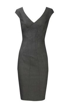 Karen Millen Tailored Dress Grey -- makes me wish I had a job so I'd have someplace to where it.