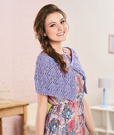 Vintage Lilac by Helen Ardley - Let's Knit, issue 95, August 2015