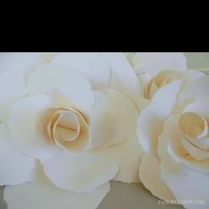 Saw these DIY gigantic roses on yesterday's Martha... These would make a great Easter centerpiece... Clean & Spring-ee