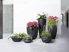 Bloempot zwart - plantenbak - bloemenbak - 60x60x60 cm - OHRIT