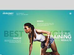 FitnessStartup by Bei Ad Design, Layout Design, Sports Graphic Design, Sports Website, Creative Web Design, Ui Design Inspiration, Web Layout, Social Media Design, Banner Design
