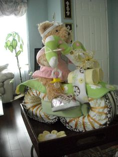 Girlie girl!  MOTORCYCLE DIAPER CAKE