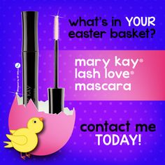 What will be in your Easter basket? Love your lashes with the mascara that defines, defends and delivers four times the volume while looking naturally flawless, soft and healthy. The flexible, sculpted brush separates and coats lashes. Mary Kay Canada, Selling Mary Kay, Mary Kay Party, Beauty Consultant, Eye Makeup Remover, Easter Baskets, Gift Baskets, Hair And Nails, Mascara