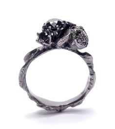 Julia deVille Ring: Black 2 2012 White Gold, Black Diamonds, Black Rhodium
