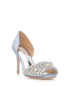 549702aca4c1 Badgley Mischka Maria in periwinkle or blue wedding shoe