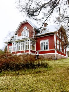 Exteriör Swedish Cottage, Red Cottage, Future House, My House, This Old House, Sweden House, Red Houses, Scandinavian Home, Architecture