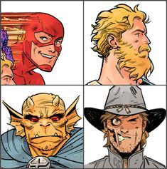The Flash, Castaway Green Arrow, Etrigan the Demon & Jonah Hex Comic Book Pages, Comic Book Artists, Comic Artist, Comic Books Art, Dc Comics Art, Marvel Comics, Comic Character, Character Design, Mike Mignola Art