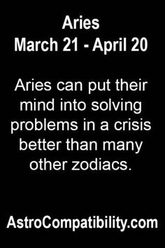 Aries can put their mind into.... | AstroCompatibility.com