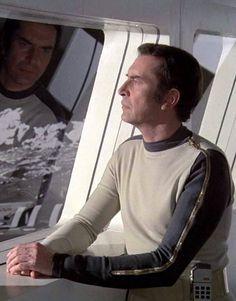 Commander John Koenig, leader of Moonbase Alpha Space: 1999 (1975–77) Contemplative pensiveness in between outbreaks of anger-management issues.